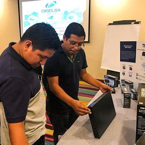 Presentaciones comerciales de equipos de seguridad electrónica Diselsa